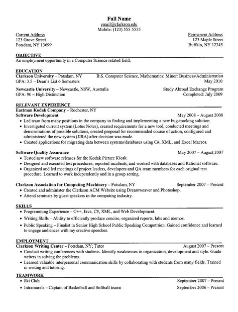 how to write resume objective sample resume objectives for students