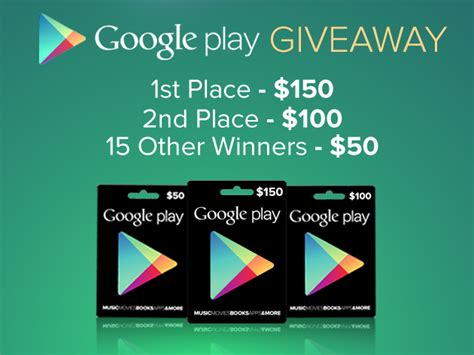 Google Giveaways - 1000 google play giveaway from androidarea com