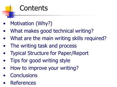technical paper writing tips improving your technical writing skills ppt