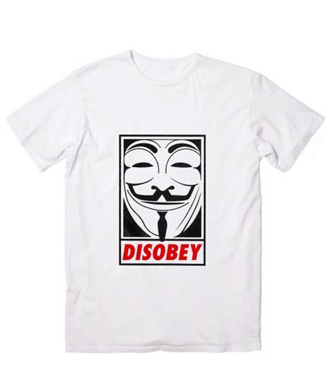 T Shirt Anonymous 01 anonymous disobey and fashion t shirt custom tees