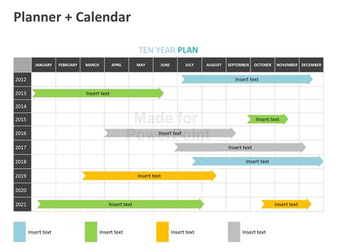 Planner Calendar Editable Powerpoint Template Powerpoint Calendars