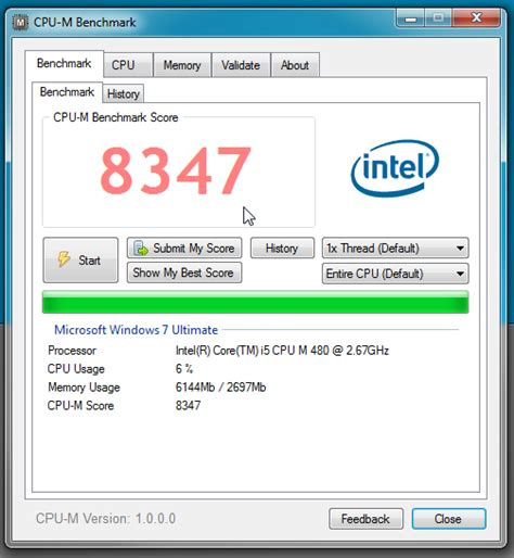 bench mark testing cpu m benchmark cpu save test scores check ram