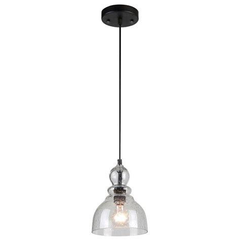 seeded glass pendant light westinghouse 1 light oil rubbed bronze adjustable mini