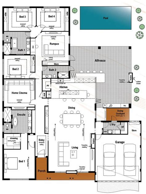 contemporary floor plans for new homes best 25 house floor plans ideas on house