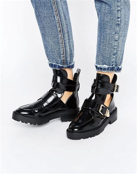 boat cut out river island river island cut out chunky boot