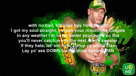 theme music youtube wwe john cena theme song with lyrics youtube