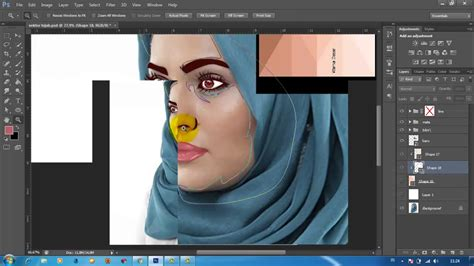 tutorial vektor rambut photoshop tutorial vektor face eyes and hijab photoshop part 1
