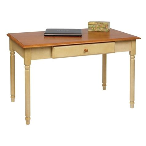 Country Cottage Desk country cottage wood writing desk in antique yellow cc25