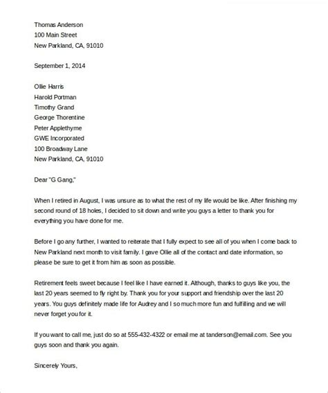sle retirement letter the best letter sle