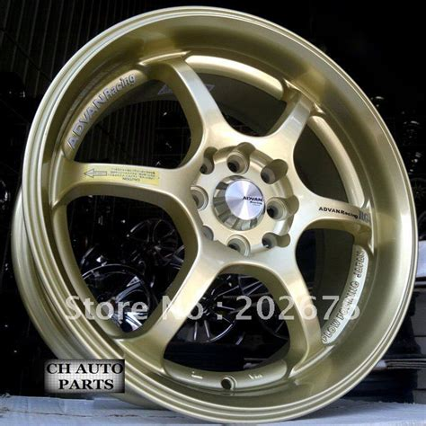 Advan 10 Inch 14 15 16 17 18 inch advan rg d golden alloy tuning wheel for tiida city fit