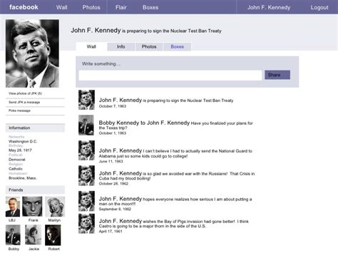 Template Jfk Facebook Sle Page Jfk