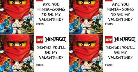 lego ninjago valentines free printable