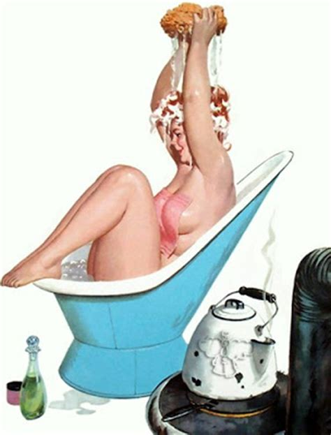 pin up girl in bathtub milk tooth s rain