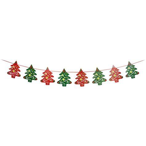 uesh christmas decorations christmas tree wall window tree flag banner banner  pieces single