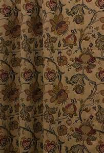Green Floral Curtains Jacobean Multi Made To Measure Curtains