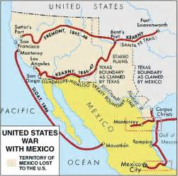 and mexican war map mexican american war encyclopedia children s