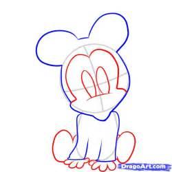 draw baby minnie mouse step step disney