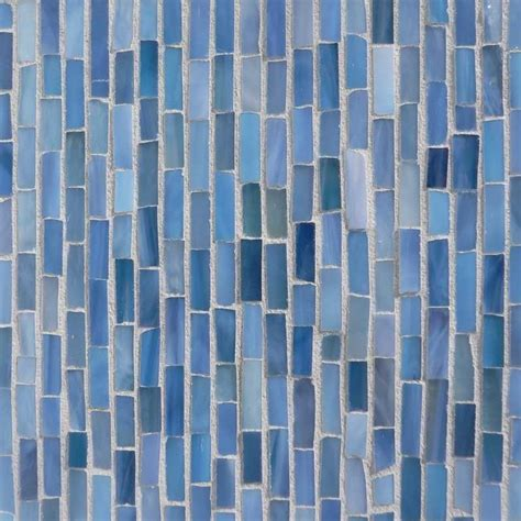 turquoise blue glass mosaic glass tile at the tilery