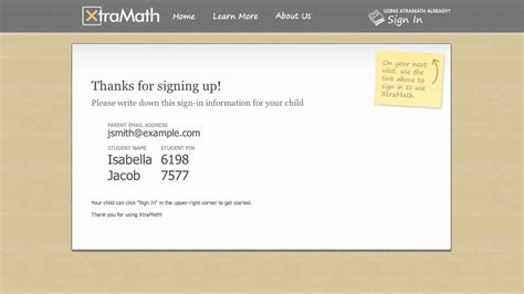 Signing up for XtraMath as a parent - YouTube Xtramath.org Sign In