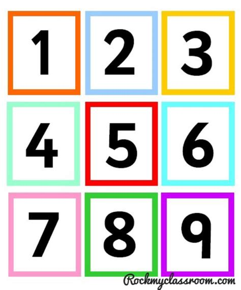 printable numicon number cards free download numicon colour coded number cards early