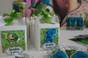 Monsters Inc Favors by Kara S Ideas Monsters Inc Birthday Planning