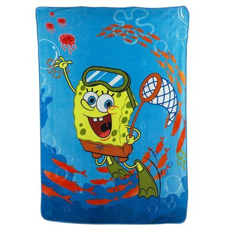 spongebob decke nickelodeon spongebob swimming micro raschel blanket