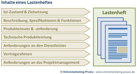 Design Pflichtenheft Vorlage Lastenheft Anforderungen F 252 R Die Webentwicklung Definieren Onlinemarketing Praxis