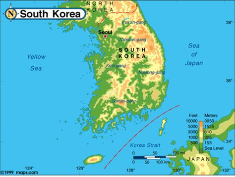 5 themes of geography south korea image gallery korean physical features