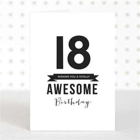 18 Birthday Cards Awesome 18 Birthday Card Doodlelove