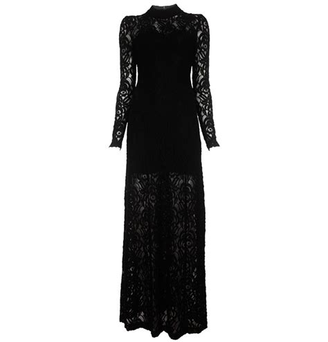gestuz black lace maxi dress fashion and accessories