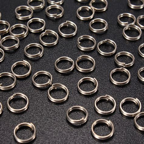 Alat Pancing A New 50pcs Stainless Steel Split Rings For Fishing L 50pcs fish fishing solid stainless steel snap split ring lures tackle connector ebay