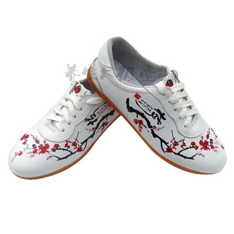 chi shoes plum blossoms soft leather chi shoes white 33 40
