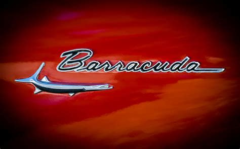plymouth emblem 1967 plymouth barracuda emblem photograph by reger