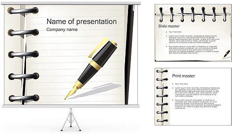Vorlage Word Notizblock Stift Und Notizbuch Powerpoint Vorlagen Und Hintergr 252 Nde Id 0000001861 Smiletemplates