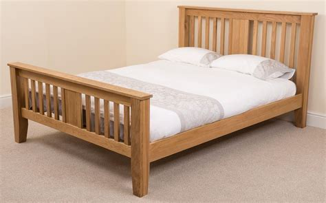 5ft king size bed boston 5ft king size oak bed 8 quot memory foam mattress