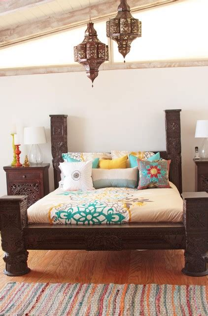 indian style bedroom indian bed eclectic bedroom los angeles by tara design