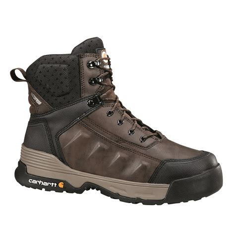 mens carhartt boots carhartt s waterproof 6 quot work boots brown