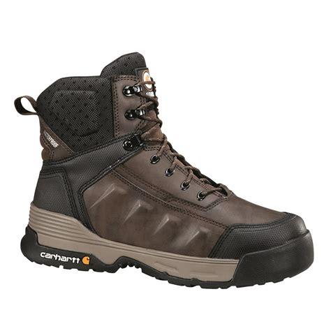 carhartt mens work boots carhartt s waterproof 6 quot work boots brown