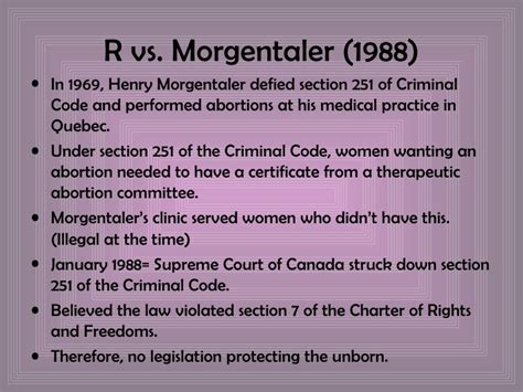 section 151 criminal code of canada abortionin canada