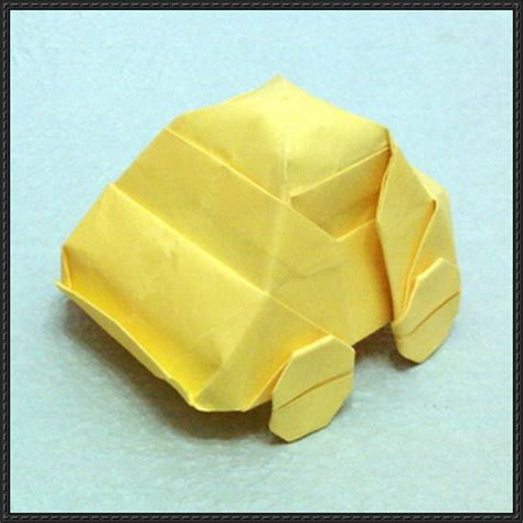 Paper Car Origami - new paper craft origami car vw beetle free diagram