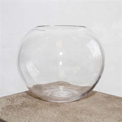 20cm Fish Bowl Vase by Fish Bowl Narrow Topped 20cm H X 25cm W Harrisons