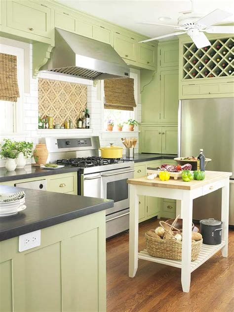 Permalink to Green Kitchen Cabinets