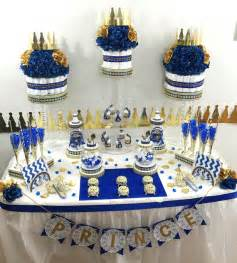 blue and gold baby shower decorations royal blue and gold baby shower buffet cake centerpiece with royal prince baby