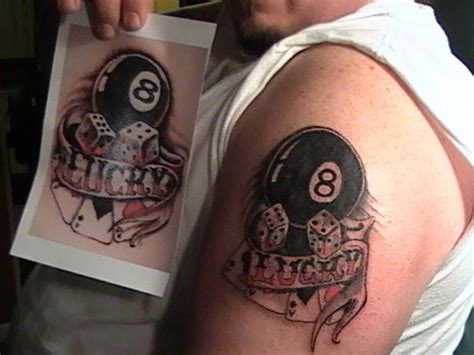 lucky eight ball tattoo design busbones
