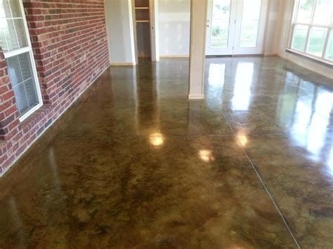Lowes Sunroom Concrete Acid Stain Photo Gallery Direct Colors Inc