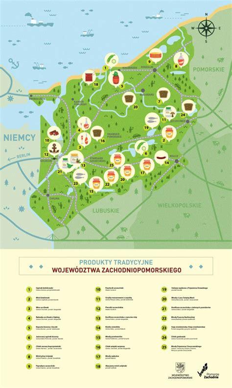 pomeranian food list maps of west pomeranian province by adam quest