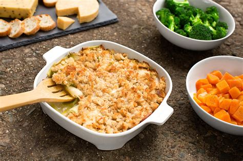 Crumbly Side Leek Cheese Crumble by Cheese And Leek Dish With A Crunchy Crumble Top Recipe