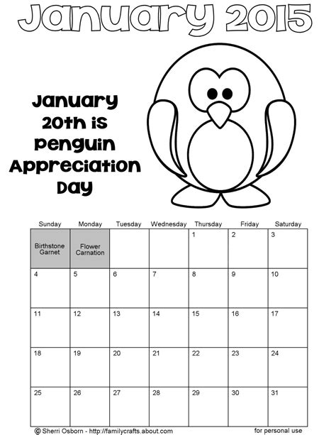 printable calendar 2015 to color coloring page calendar january 2015 new calendar