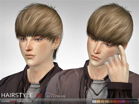 sims 4 male hairstyles 54 best coiffure sims 4 images on pinterest