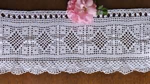 Crochet Window Valance Free Filet Crochet Curtain Patterns Window Treatments